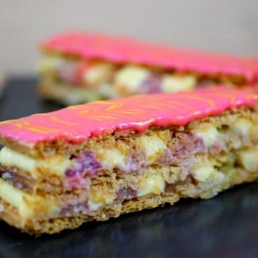Rhubarb & Custard Mille-Feuille