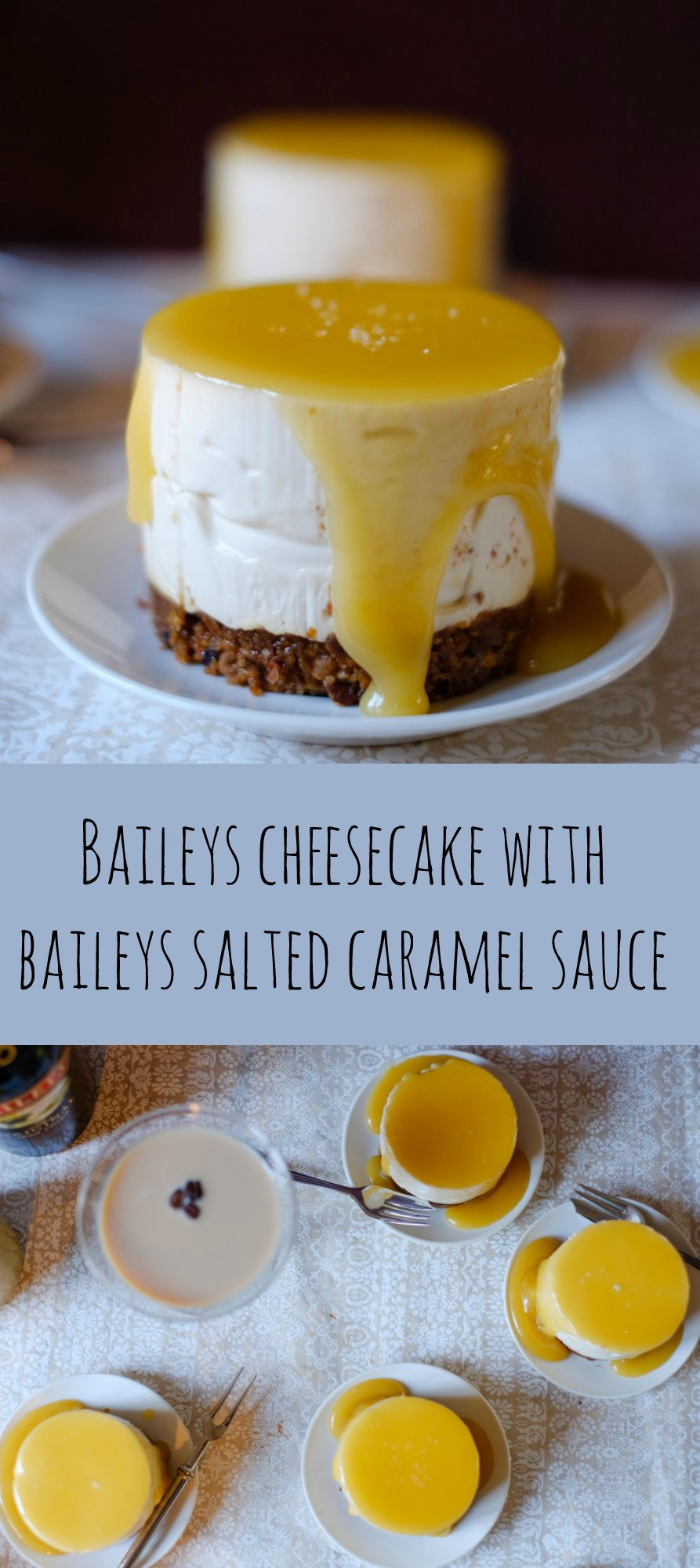 Baileys Cheesecake with Baileys Salted Caramel Sauce | Patisserie Makes Perfect