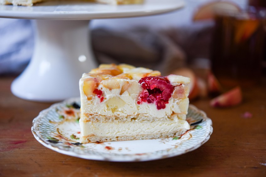 Peach & Raspberry Dacquoise | Patisserie Makes Perfect
