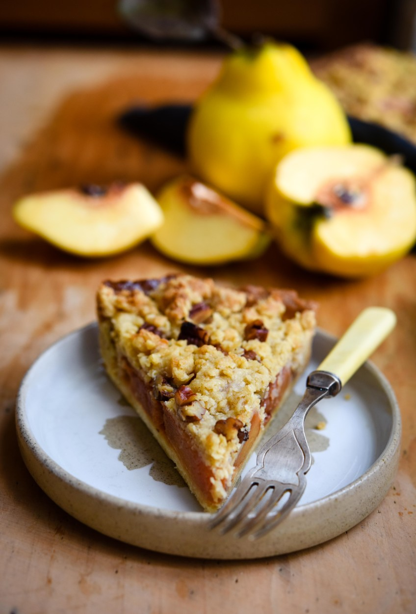 Quince Crumble Tart | Patisserie Makes Perfect
