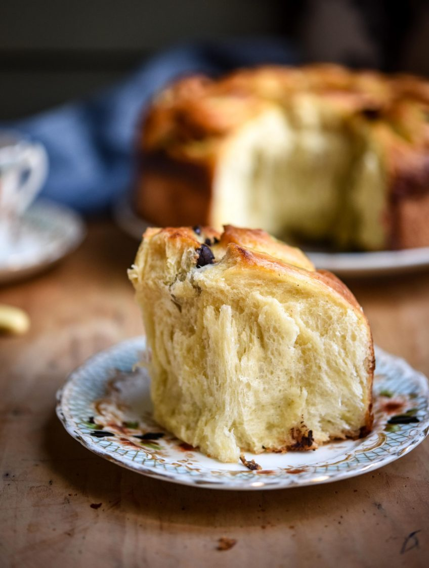 Chocolate Chip & Creme Patissiere Brioche | Patisserie Makes Perfect