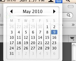 Calendar on Mac Menu Bar
