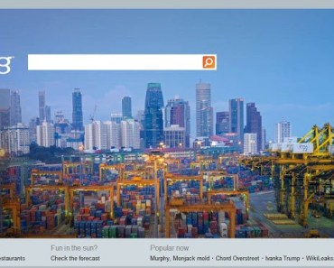 Singapore Port Skyline on Bing