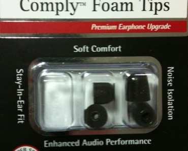 Comply Foam Tips T100 for Earphones