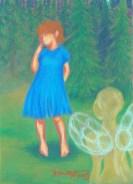 """""""Kohtaamisia"""", öljypastelli paperille (2003)"""