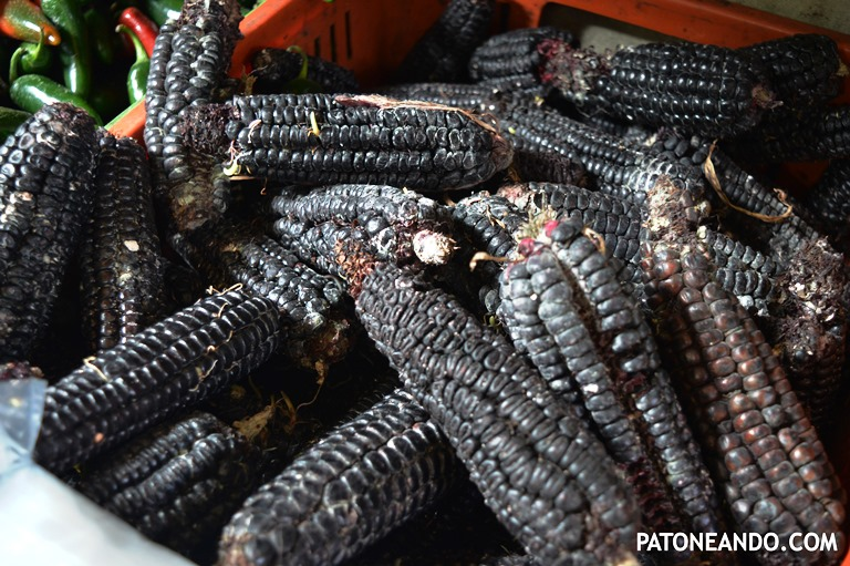 El maíz morado, originario del Perú. Se usa como alimento desde hace milenios