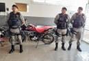 Polícia Militar apreende moto com restrição em Teixeira