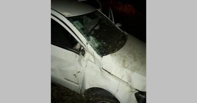 Ex-prefeito de Várzea capota veículo na rodovia e fica ferido