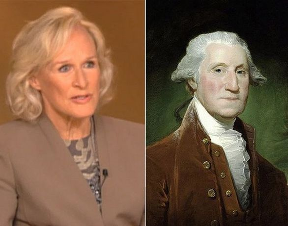 Η Glenn Close και ο George Washington