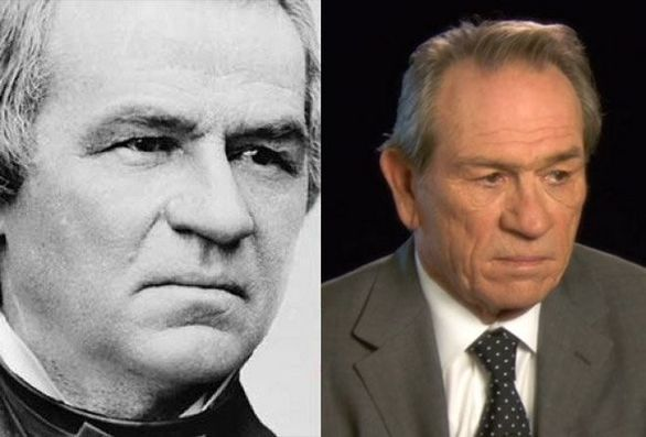 Ο Tommy Lee Jones και ο Andrew Johnson
