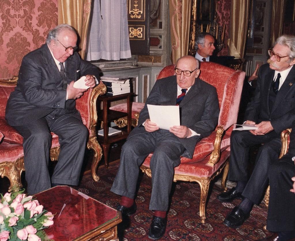 Un incontro istituzionale dell'ANPI con Giovanni Spadolini