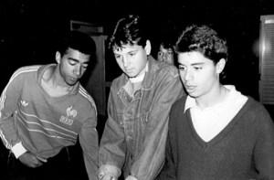 Patrice, Nicolas Ouédec et Stéphane Ziani à la Jonelière, années 80