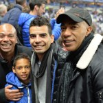 William, Patrice et leurs fils, finale de la coupe de la Ligue 2014