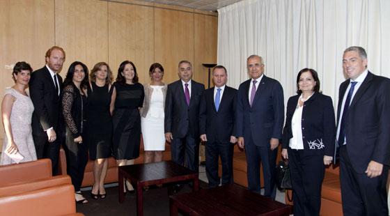 Avec le président de la république Michel Sleiman