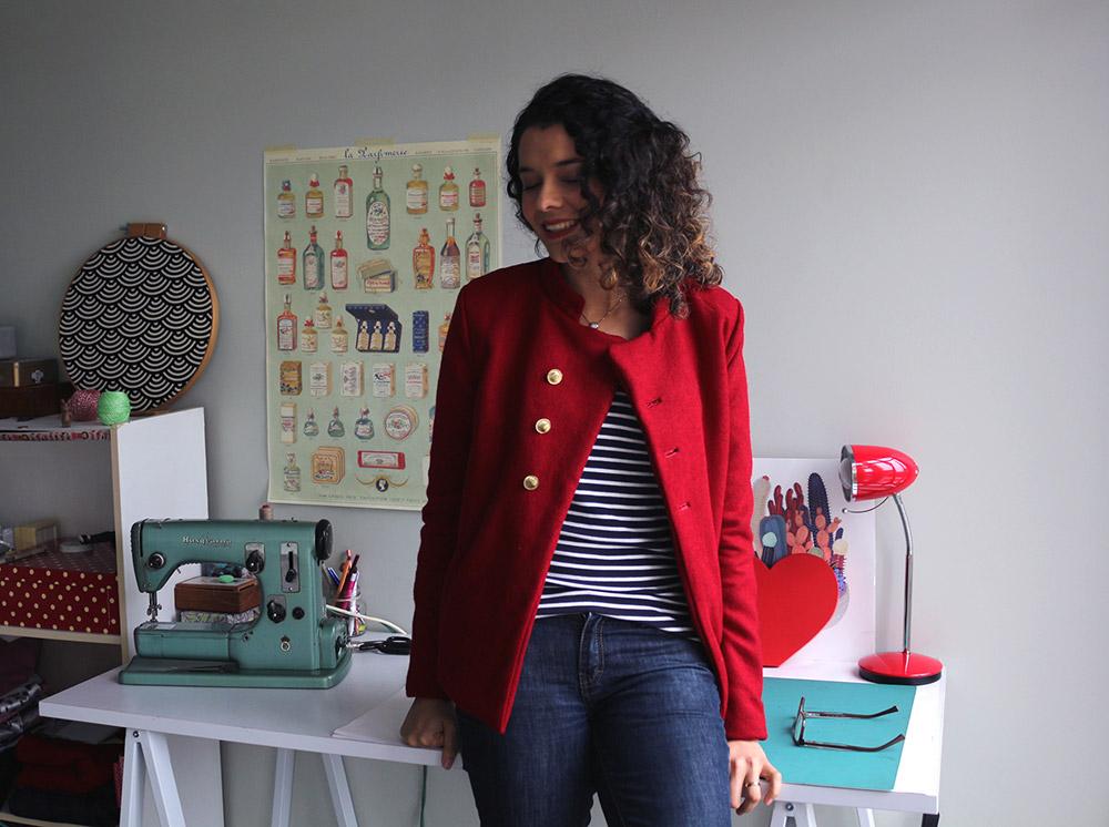 casaco vermelho Patricia Cardoso