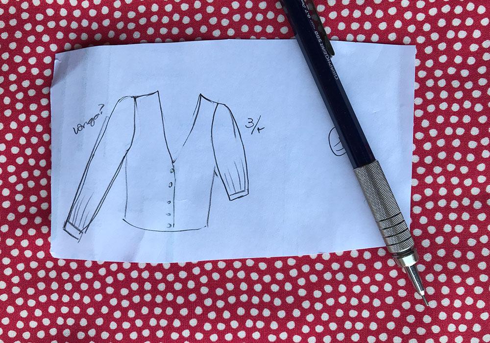 desenho da blusa