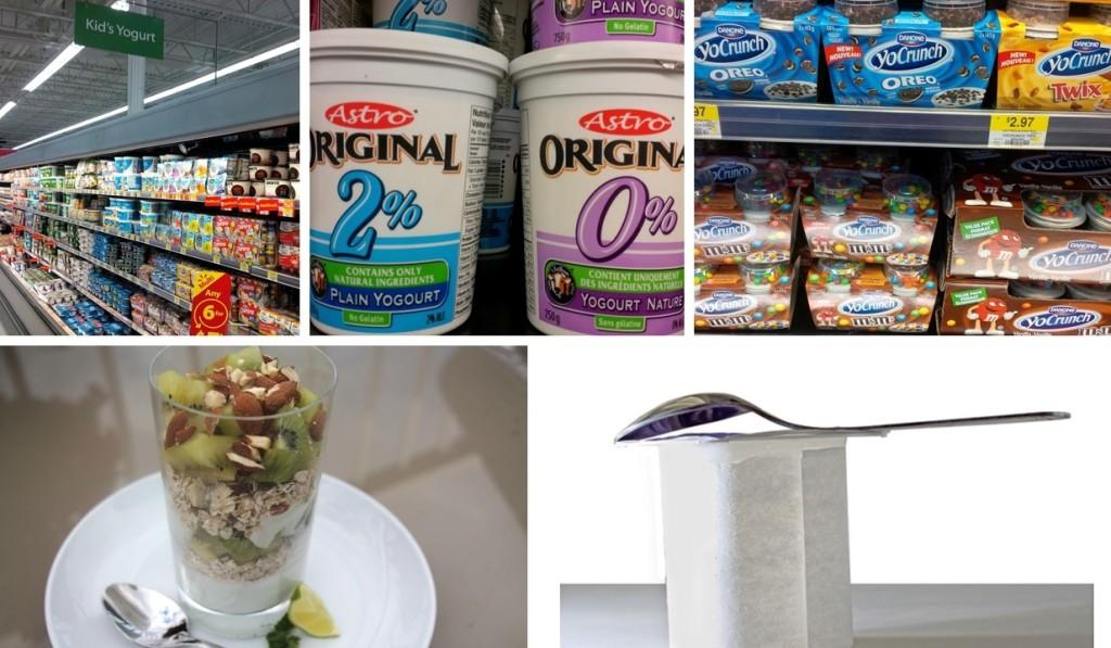 Yogurt collage