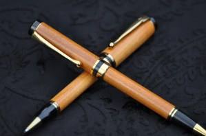 Hand turned pen and pencil set