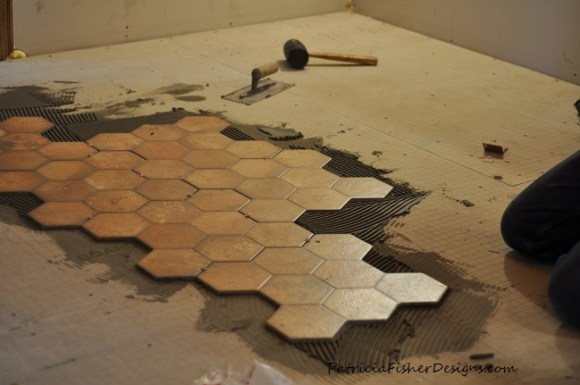 honeycomb tile project