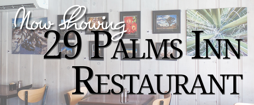 gallery display at 29 palms inn restaurant
