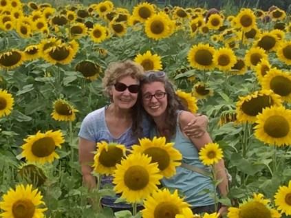 me &Melissa in flowers 17