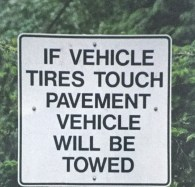 tires sign