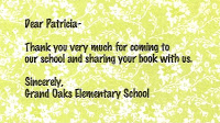 Author Day at Grand Oaks Elementary School