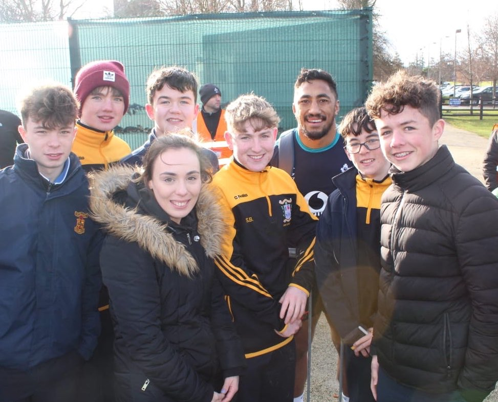 Junior Rugby Team Visit Ireland Training