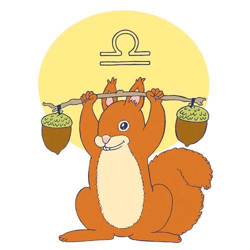 Sternzeichen Waage Eichhörnchen