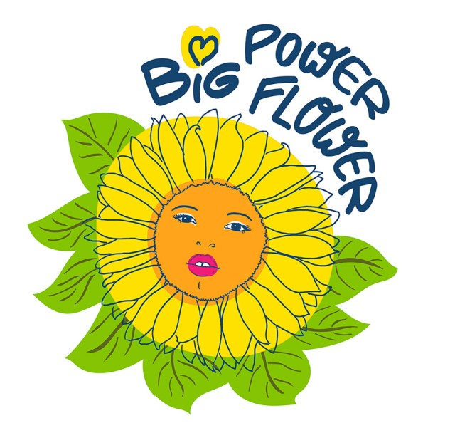 Happy Size Big Power Flower