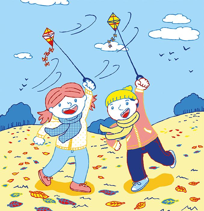Bilderbuch Frieda und Markus Durch das Jahr Oktober