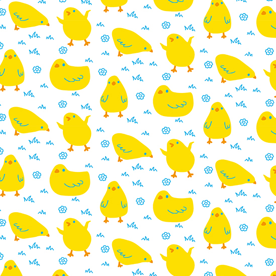 Ostern Surface Design Muster Kinder easter chicks