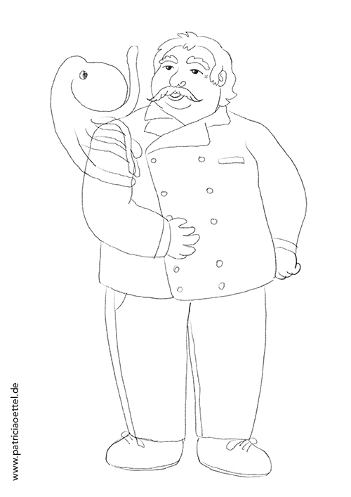 Charakter Figur Design Koch 1 Patricia Oettel