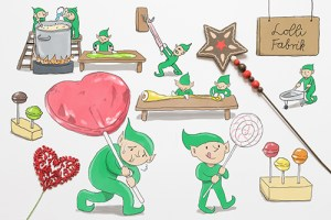 Weihnachten als Geschäft Kreativ Challange Tag 2 Lolliwerkstatt