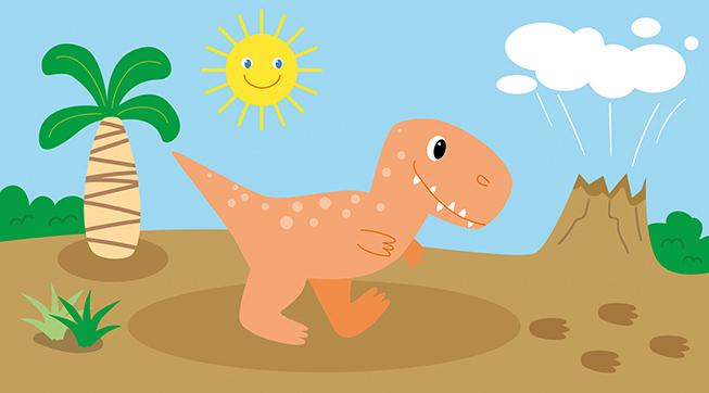 Vektor Dino T-Rex Patricia Oettel Illustration