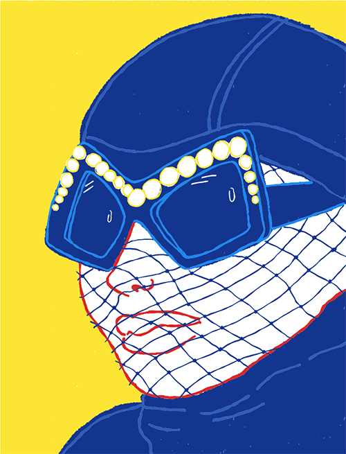 Mode Illustration Sonnenbrille