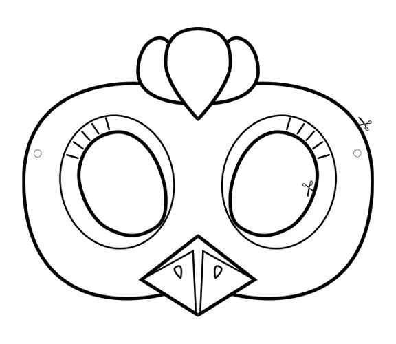 Huhn Maske zum basteln