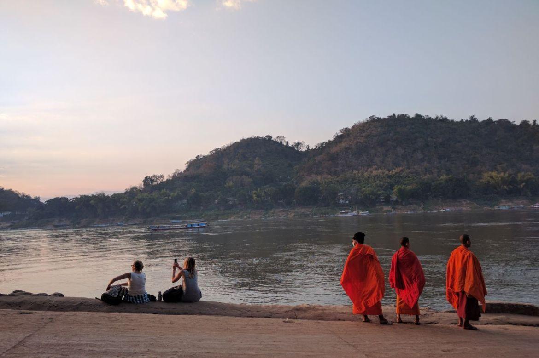Sunset on the Mekong in Luang Prabang
