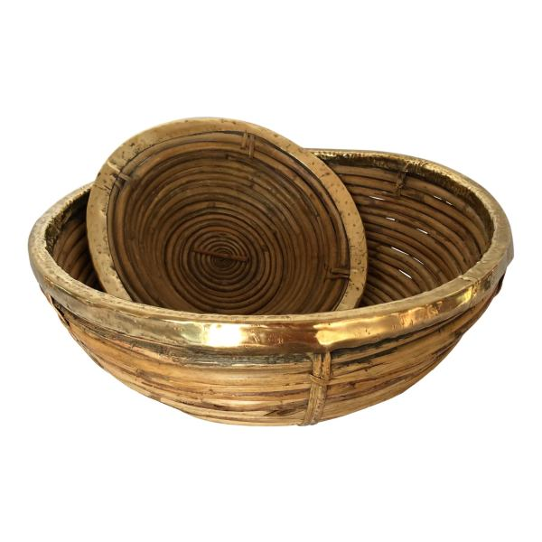 c1970-pencil-bamboo-and-brass-rim-baskets-italy-set-2-8802