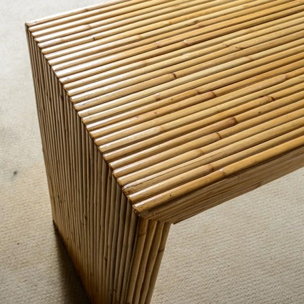 Mid-Century Italian Large Pencil Bamboo Console Table, C.1960