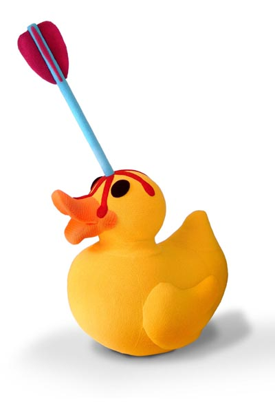 My favorite of her designs.  A poor rubber ducky.  Photo from her website