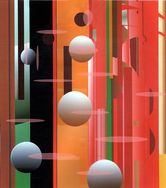 Abstract with balls by Patricia Wynn Davies