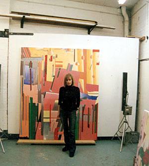 British artist Patricia Wynn Davies in her studio