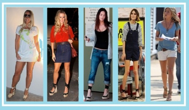 famosas que usam espadrilles e1312841176316 - Se Amarre neste Verão – Sandálias de Corda ESPADRILLE