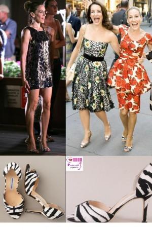 satc movie carrie manolo blahnik setharby zebra pumps e1312658849921 - Elegantíssima Sarah Jessica Parker X Poderosíssima Carrie Bradshaw