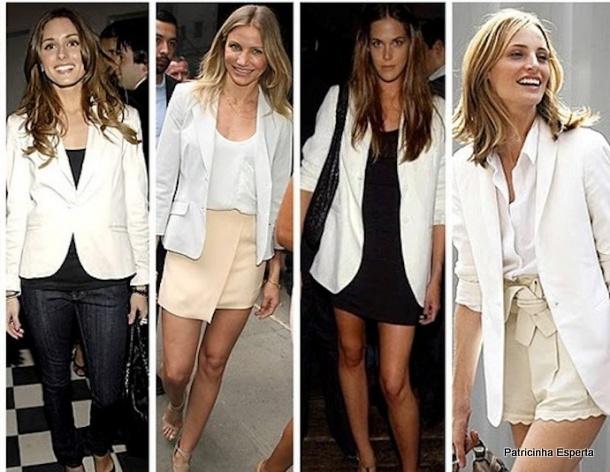 blazer branco - Blazer Branco - A peça que faltava no seu Guarda-Roupas!