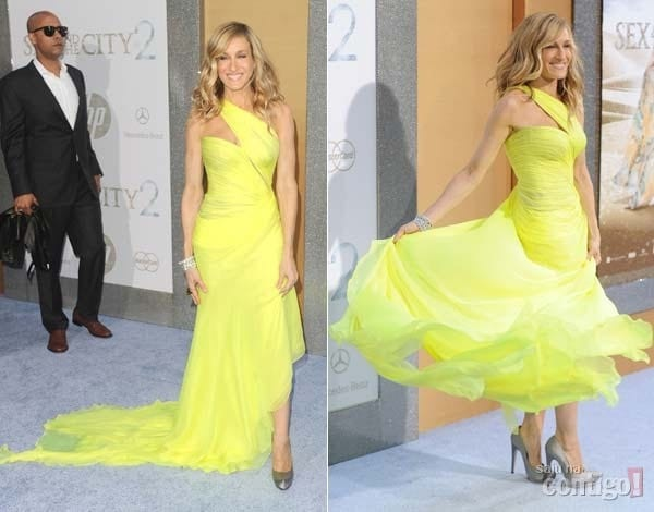 stao amando amarelo celebridades atriz moda fashion roupas clothes vestido dress foto frame artistas tv estilo look visual moderno cores colors tons pastel - Amarelo da cor do sol...