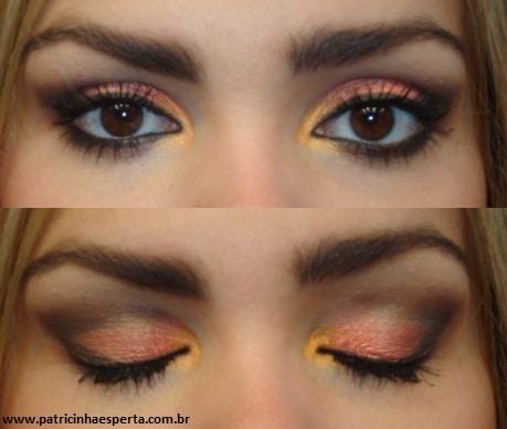 020post - Tutorial - Maquiagem Laranja e Coral com Preto para a Noite