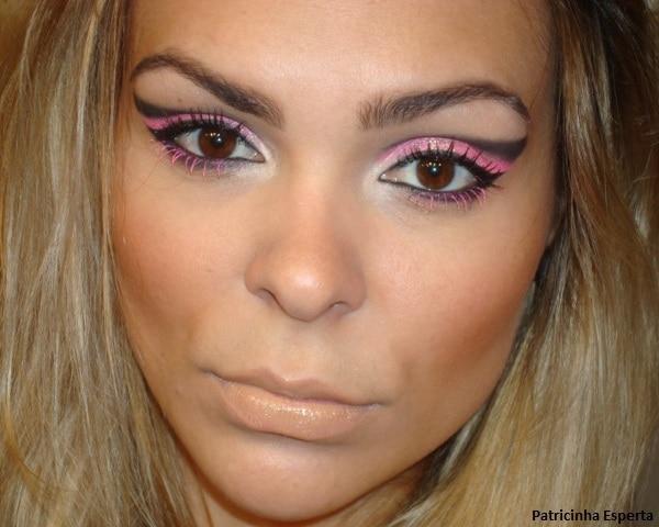 020post1 - Maquiagem para Balada - Rosa Fluorescente com Rímel Pink