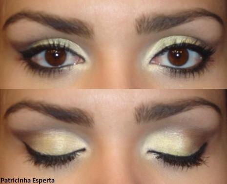 024post - Maquiagem amarelo claro com marrom